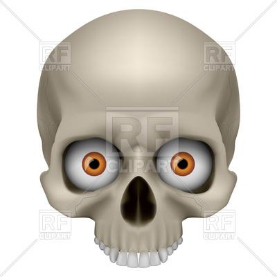 400x400 Freaky Human Skull With Bulbs Of Eye Royalty Free Vector Clip Art