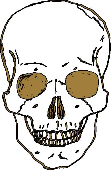 390x597 Gold Skull Clip Art