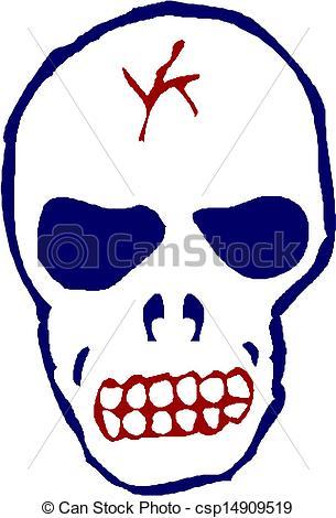 305x470 Human Skull Vector Clip Art