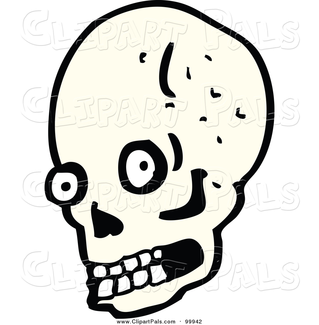 1024x1044 Pal Clipart Of A Human Skull With Eyes And Teeth By