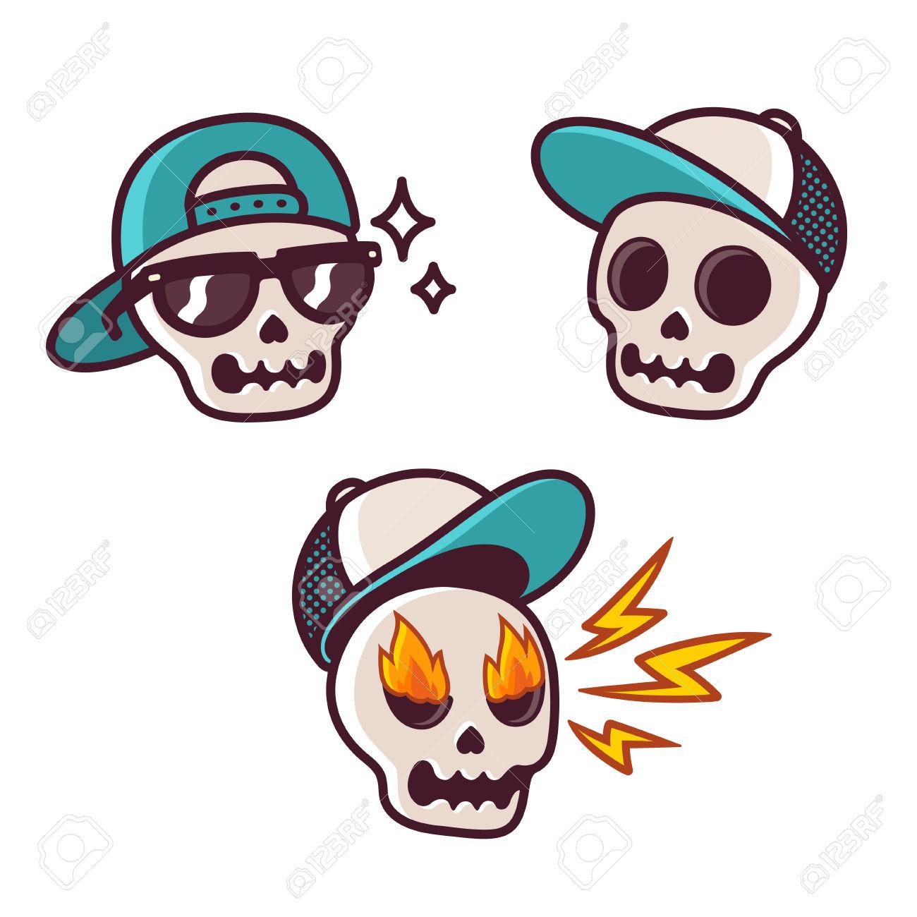 1300x1300 Skull Clipart Cool Cartoon