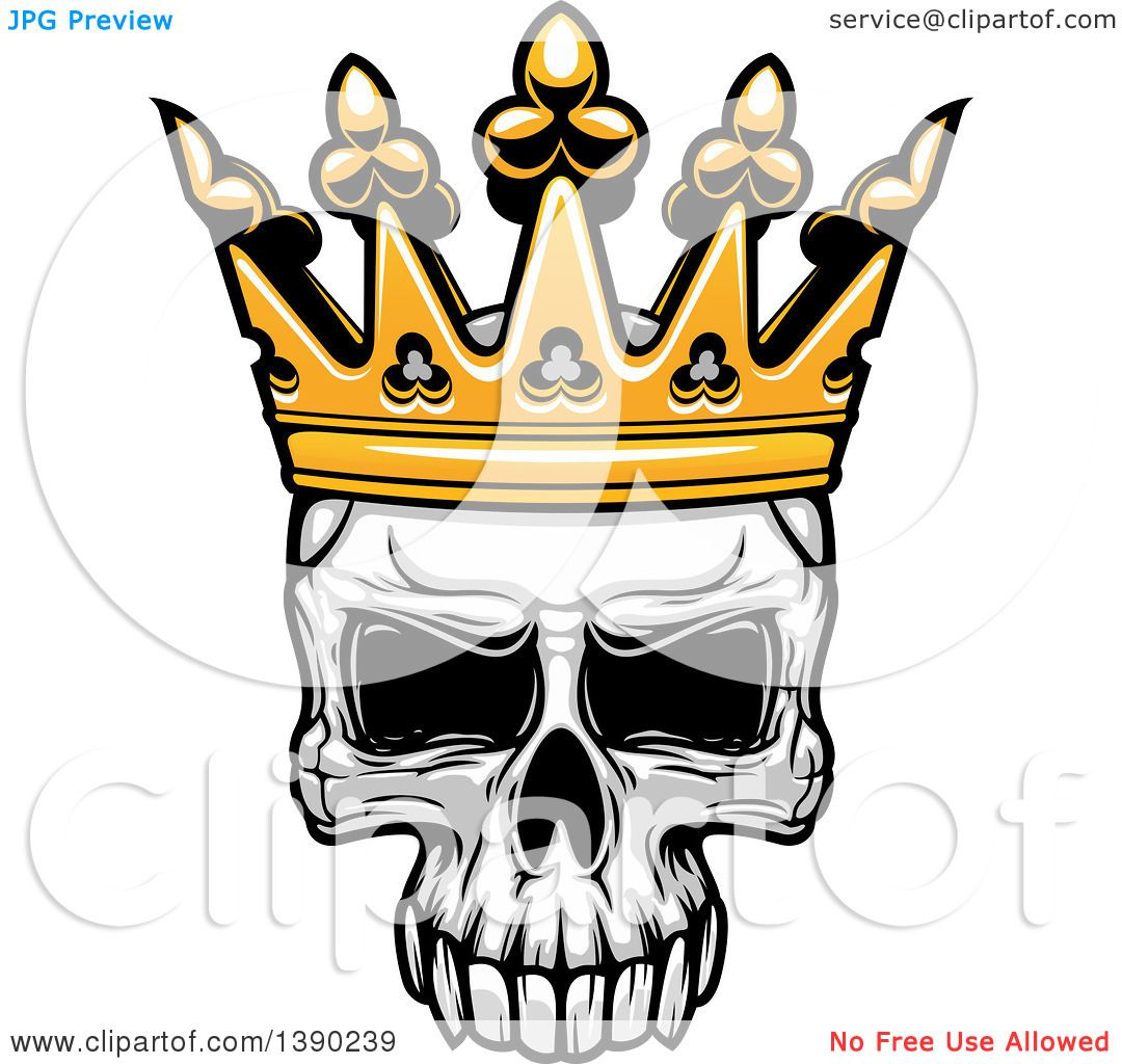 1080x1024 Clipart Of A Human Skull Wearing A Crown