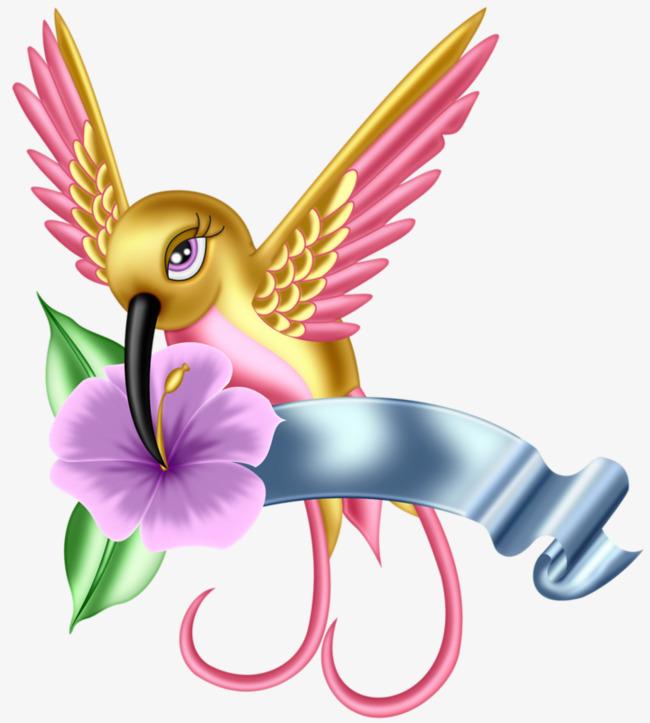 650x723 Hand Painted Hummingbird, Hummingbird, Flowers, Birds Png Image