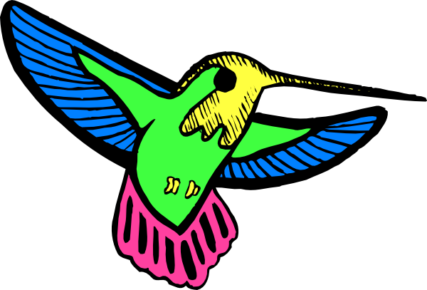600x407 Multicolored Hummingbird Svg Clip Arts Download