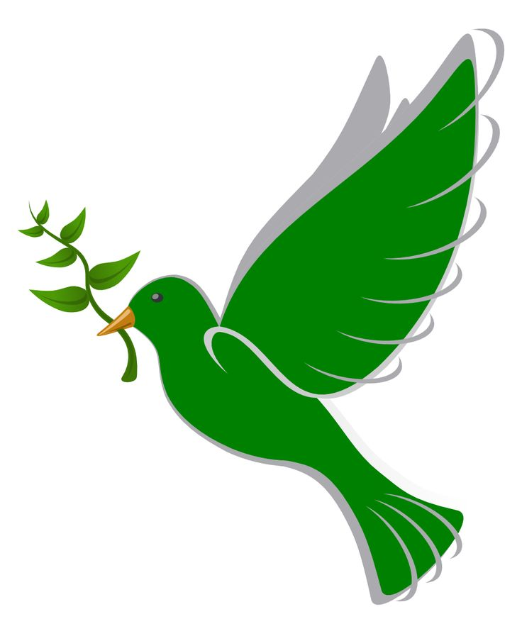 736x904 Dove Clipart Green