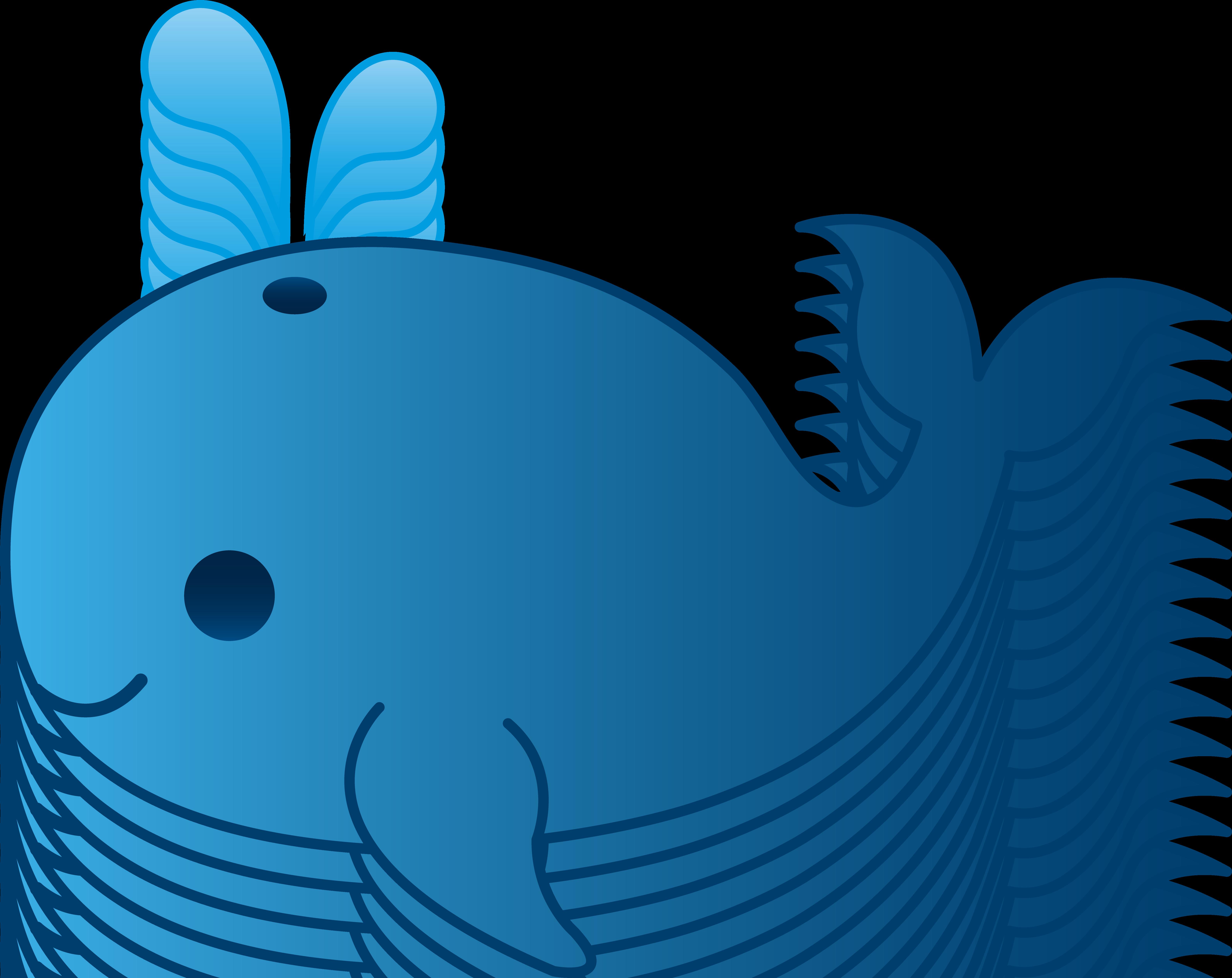 6371x5057 Cartoon Whale Clipart