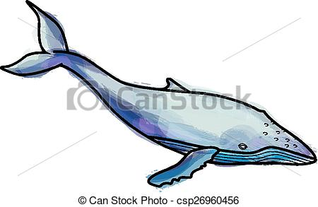 450x293 Grunge Humpback Whale Illustration Clipart Vector