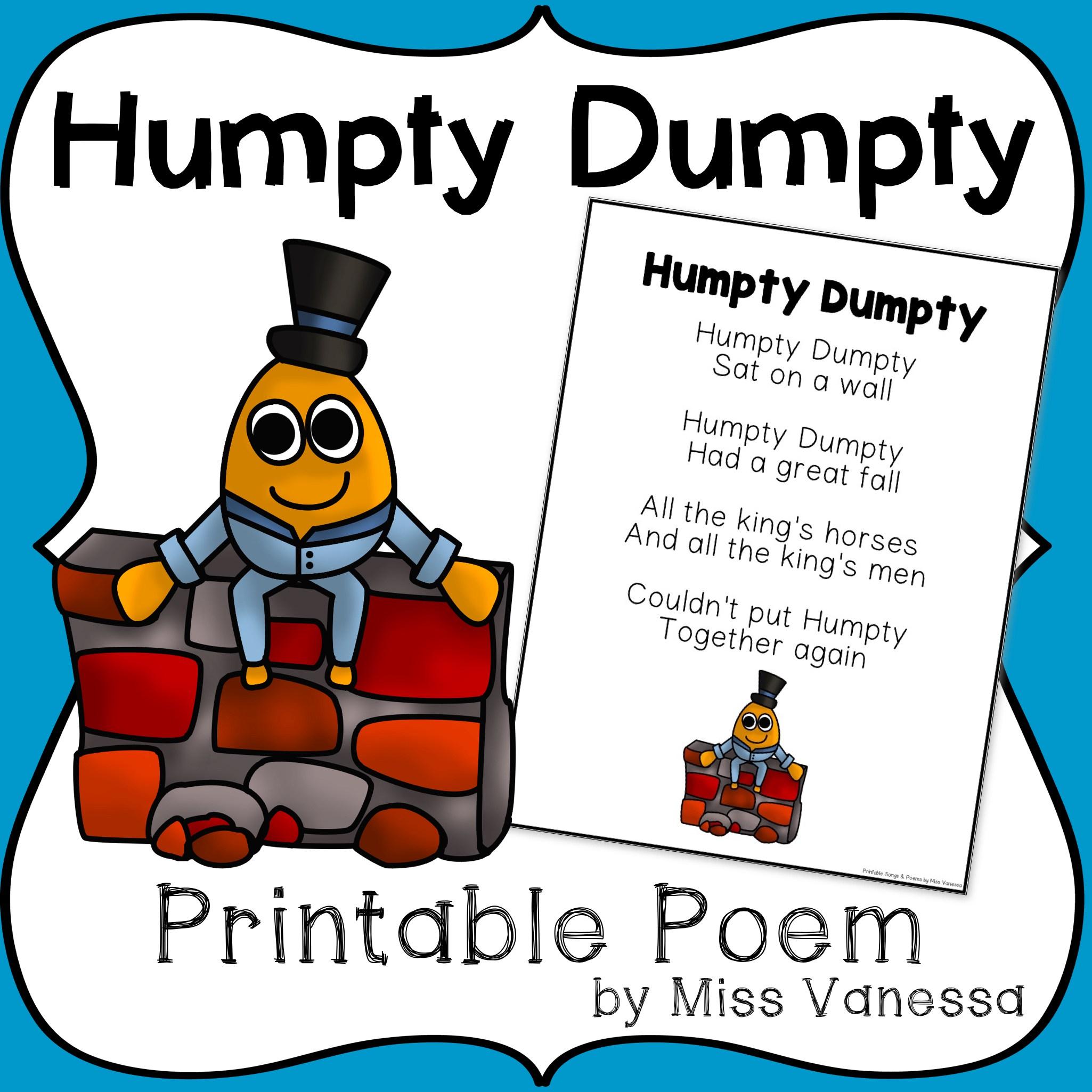 2050x2050 Humpty Dumpty Activities And Freebies! Kindergarten Nation