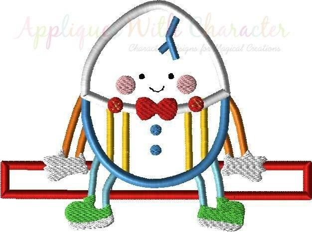 626x466 Humpty Dumpty Nursery Rhyme Applique Designs