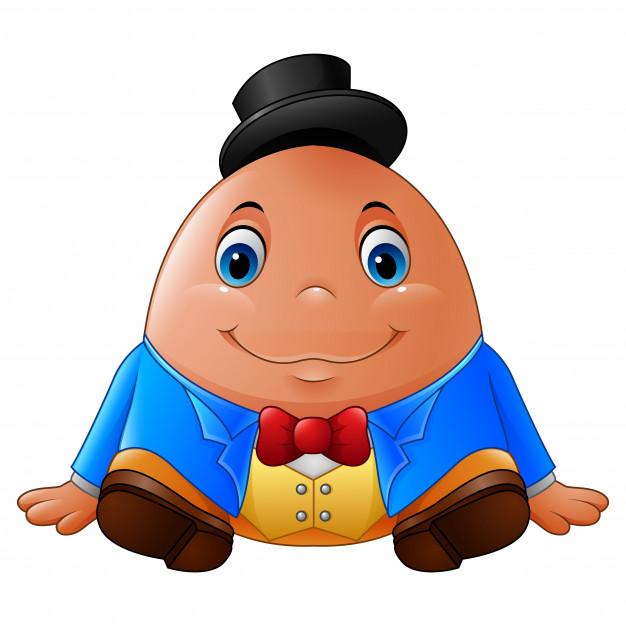 626x626 Cartoon Humpty Dumpty Vector Premium Download