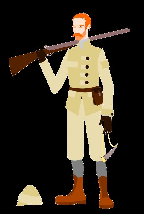 488x726 Safari Clipart Safari Hunter
