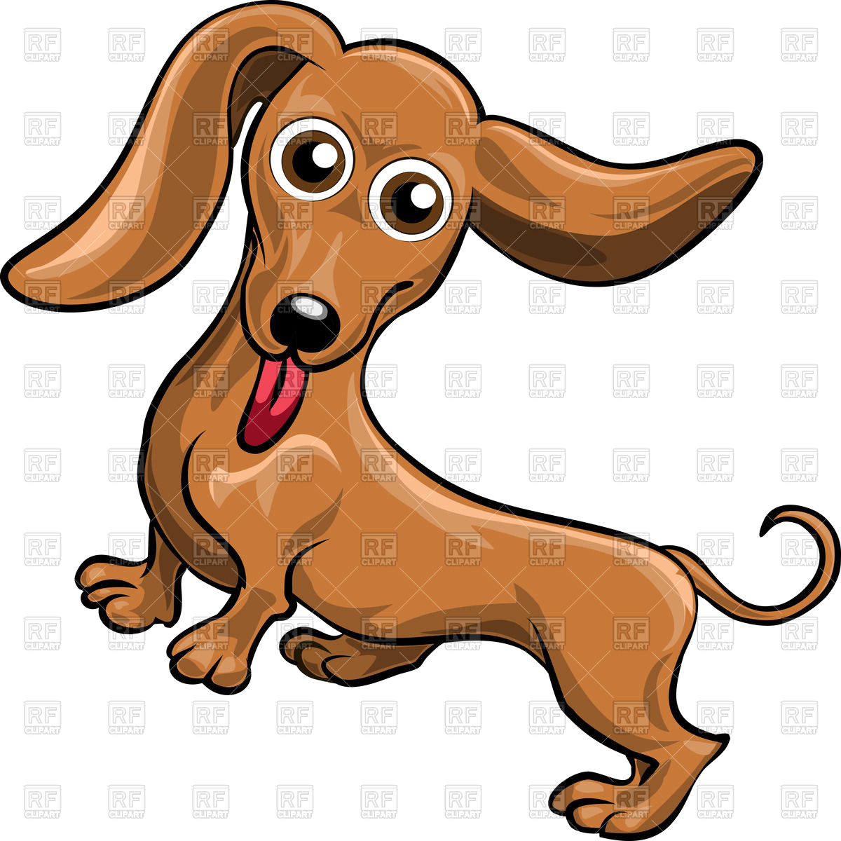 1200x1200 Funnycartoon Dog Dachshund Download Royalty Free Vector File Eps