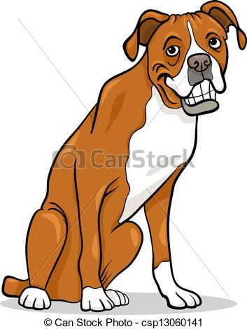 353x470 Boxer Dogs Clipart