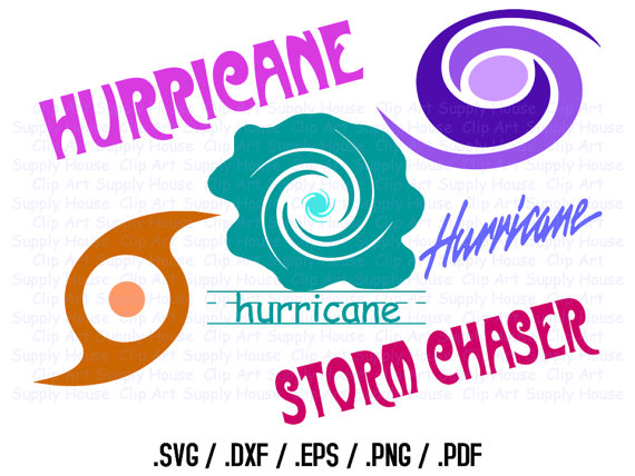 570x428 Hurricane Clipart Design Files, Use With Silhouette Software