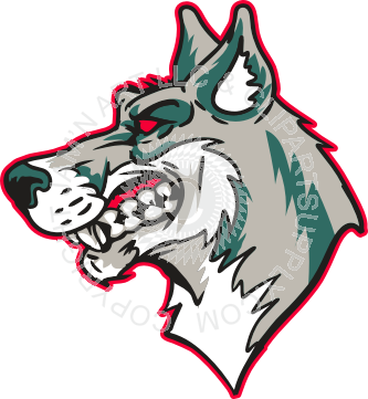 333x361 Mean Husky Head With Outline