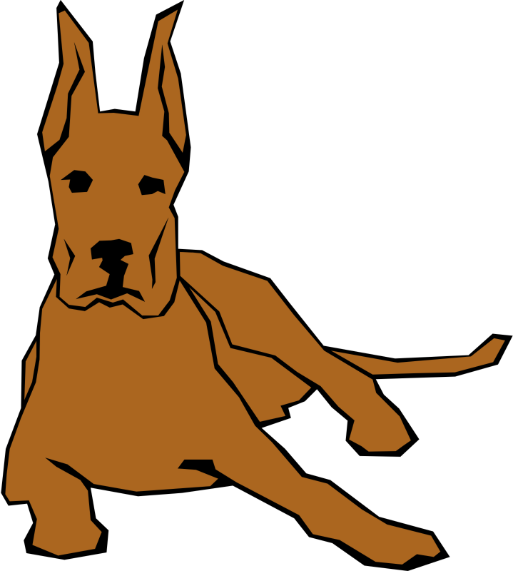719x800 Simple Dog Clipart