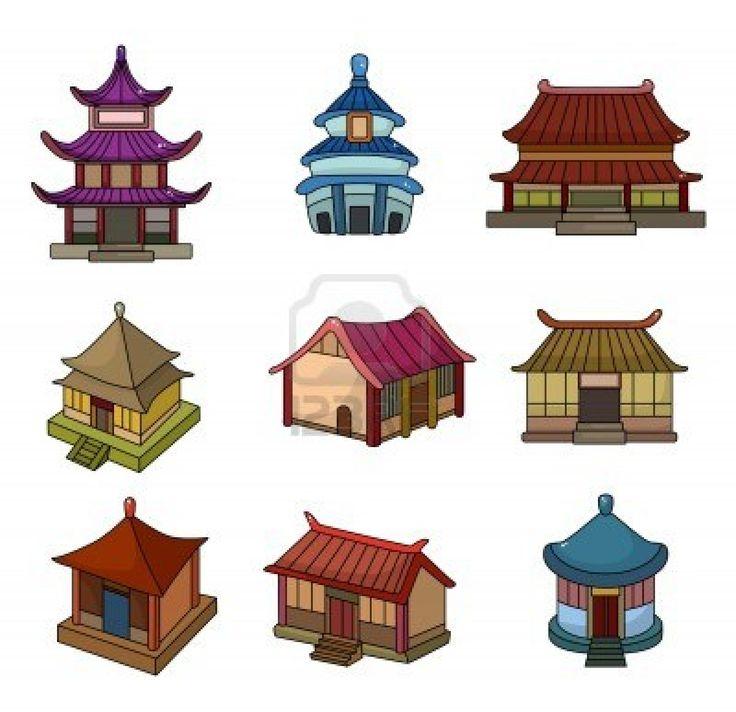 736x712 Chinese Hut Clipart