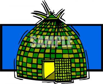 350x285 Woven Grass Hut