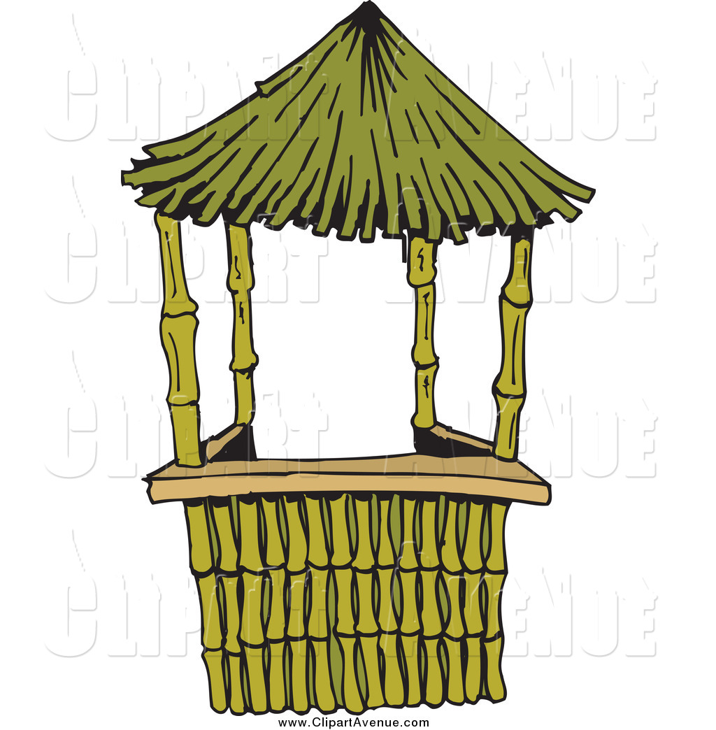 1024x1044 Bamboo Hut Clipart