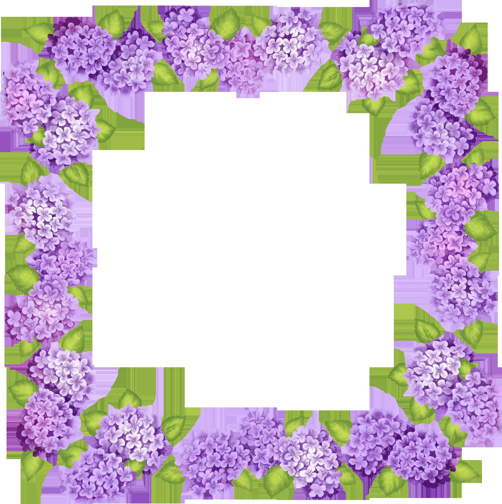2000x2009 Cute Transparent Purple Flowers Frameu200b Gallery Yopriceville
