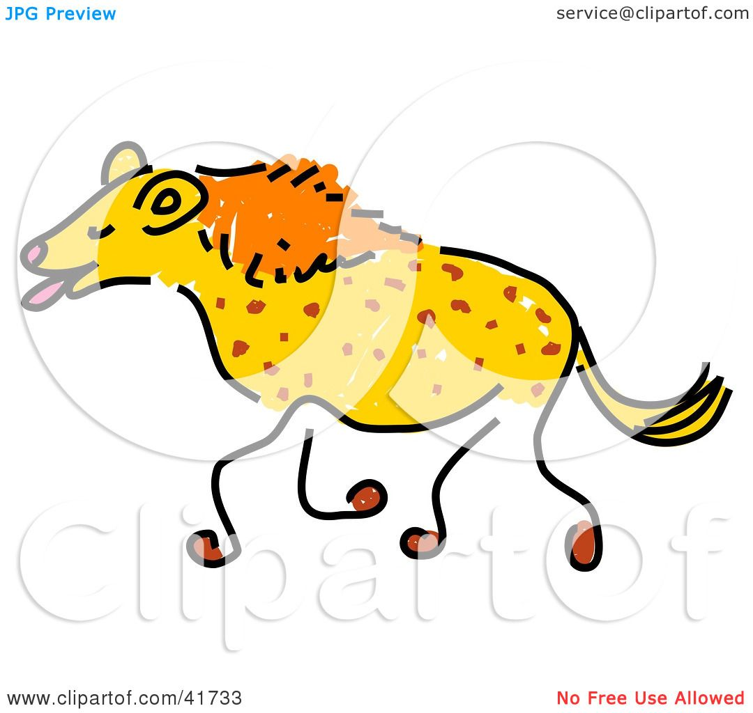 1080x1024 Clipart Illustration Of A Sketched Laughing Hyena By Prawny
