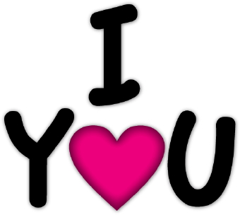 340x304 I Love You With Heart Clip Art Clipart Panda