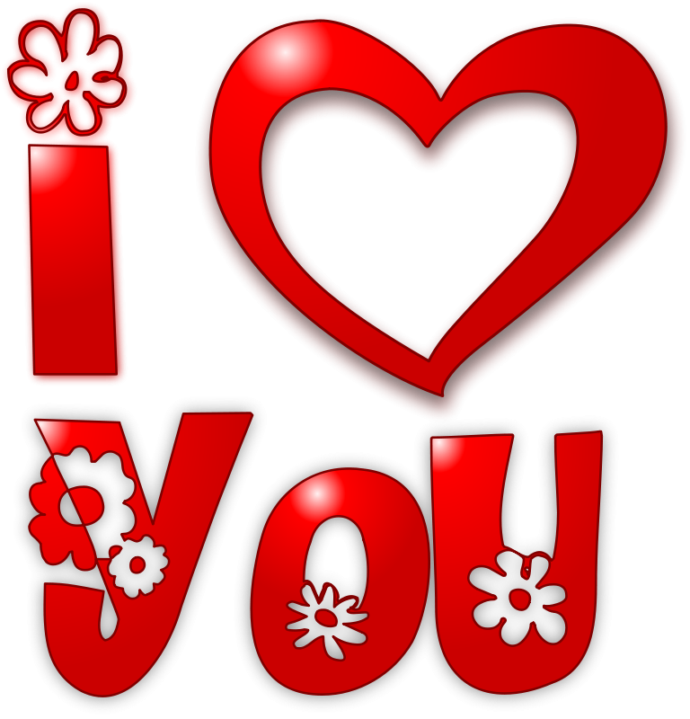 768x800 Free I Love You Clipart Free Clipart 1001freedownloads Plant