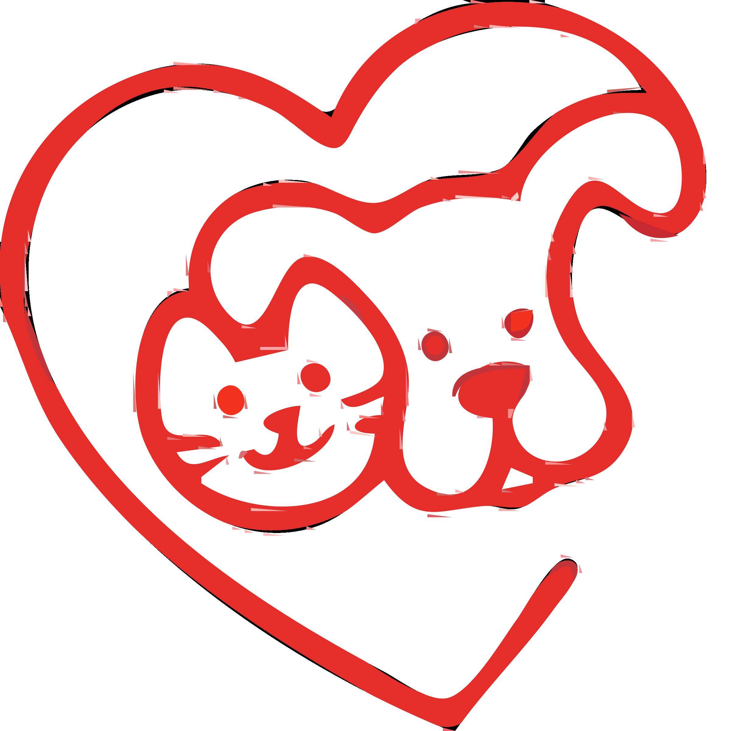 2400x2400 Clip Art Love Animals Clipart