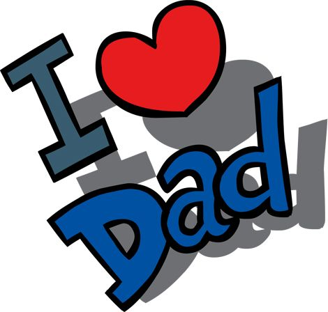 470x448 Clipart Image Of An I Love Dad Message For Father's Day