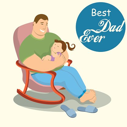 416x416 Dad And Paternal Love For Children Premium Clipart