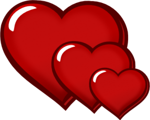 300x240 Three Red Hearts Clipart Dad In The Middle