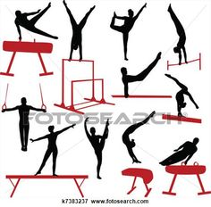 236x232 Male Gymnast Gymnastics Silhouette Die Cut Files Collection Male