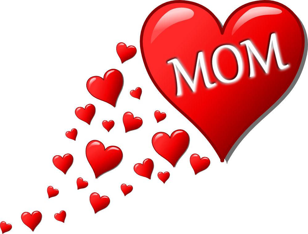 999x758 I Love My Mommy Clipart
