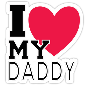 375x360 I Love My Daddy Stickers By Hntllc Redbubble