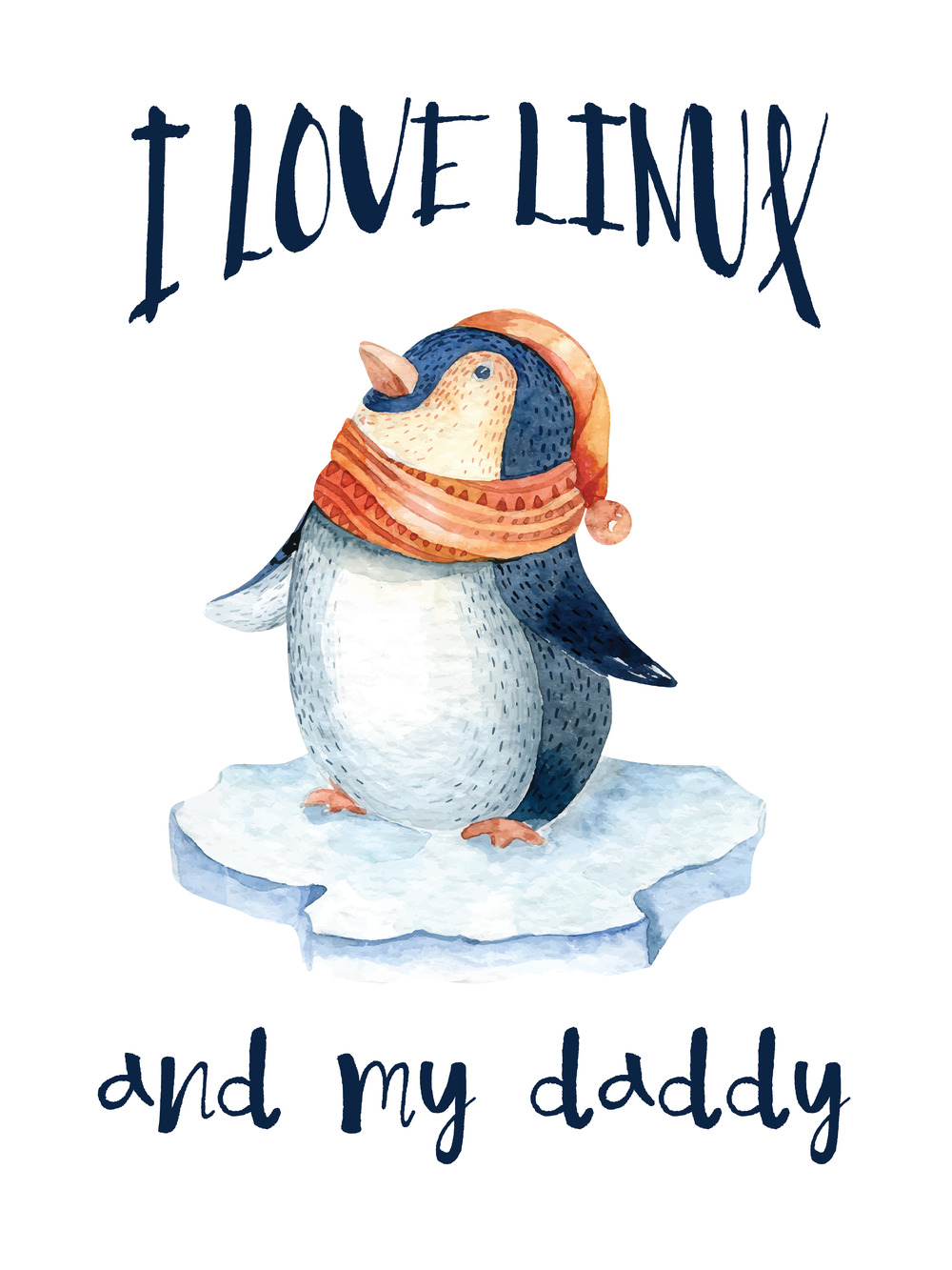1000x1333 I Love Linux And My Daddy Picture For Kids