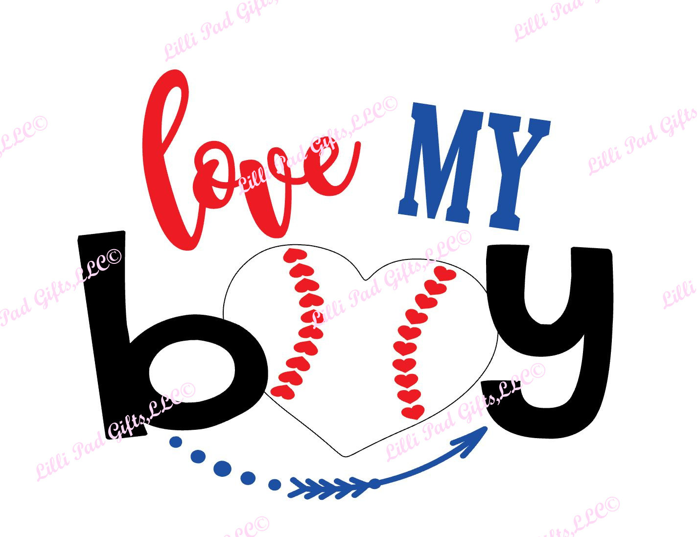 1426x1097 Love My Boy Baseball Heart Cut File Instant Download Svg