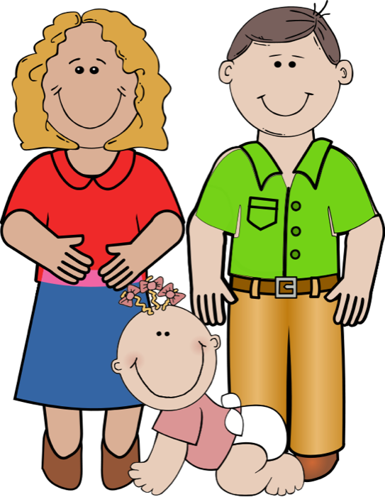 543x700 Free Clipart Of Pregnant Women, New Mothers And Families