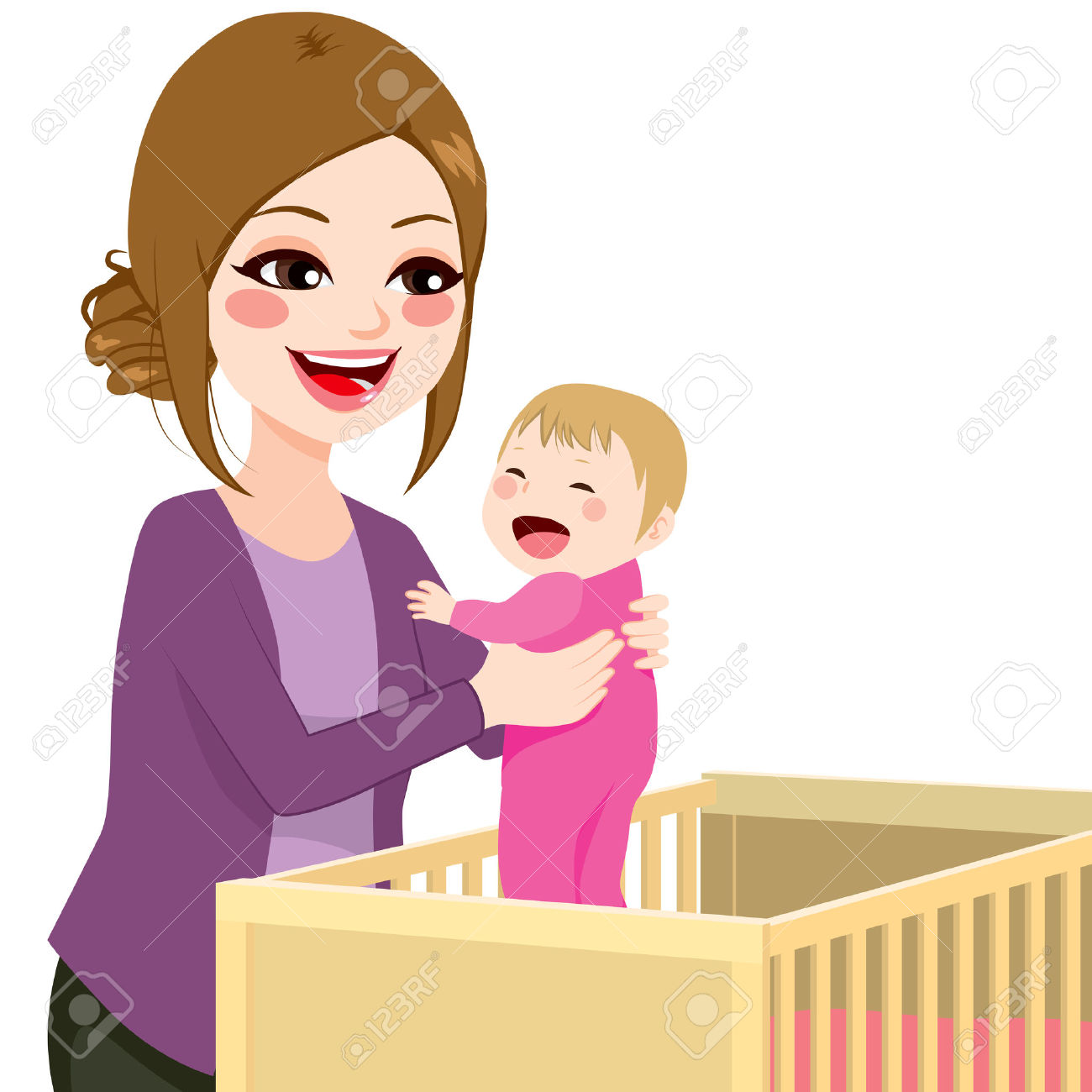 1300x1300 Mother And Baby Cartoon Image Group