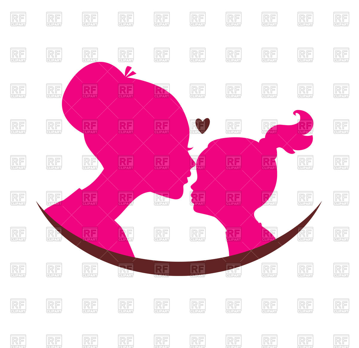 1200x1165 Pictures Mother Daughter Heart Clip Art,