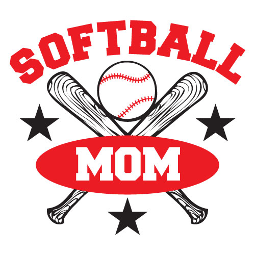 500x500 Softball Mom Clip Art 09894 Download Vector