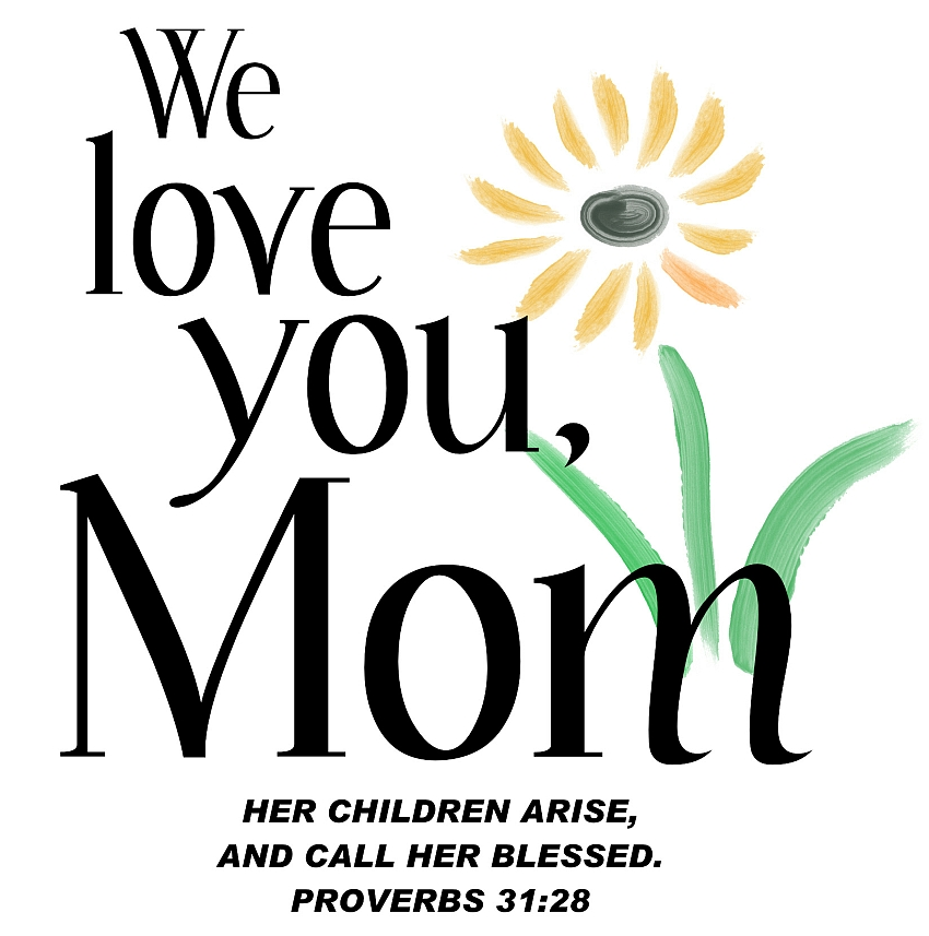 850x857 Love You Mom Graphics Images