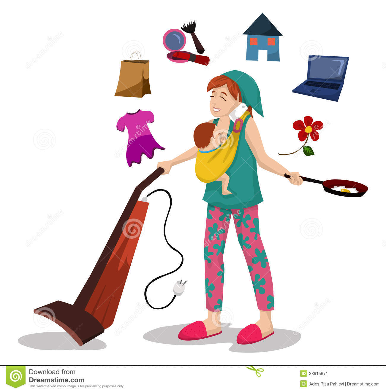 1300x1322 Working Mother And Child Clipart