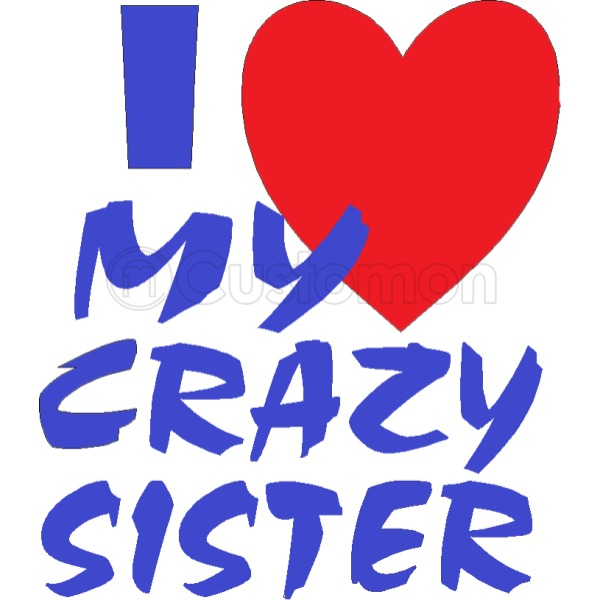 600x600 I Love My Crazy Sister Travel Mug