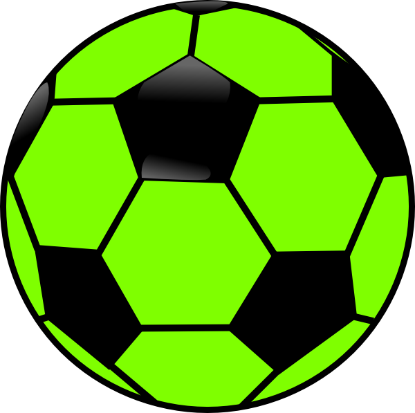 600x597 Green And Black Soccer Ball Clip Art