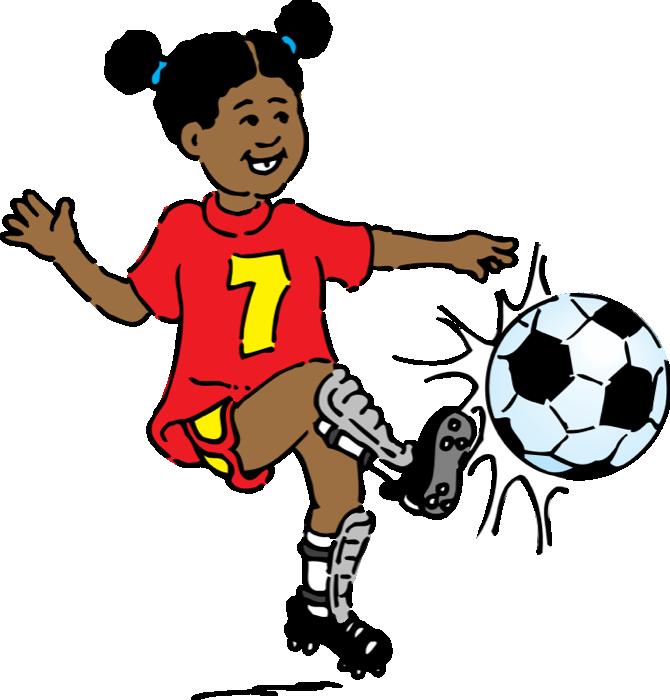 670x700 Little Girl Clipart Soccer