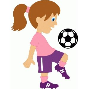 300x300 Silhouette Design Store Girl Soccer Player Clipart Amp Graphics
