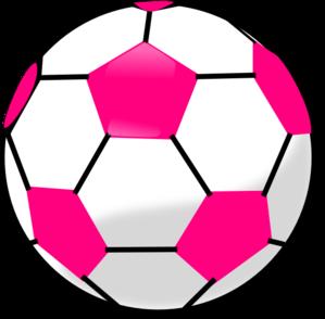 299x294 Soccer Ball With Hot Pink Hexagons Clip Art