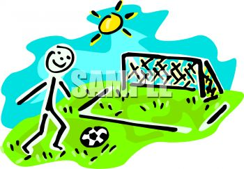 350x243 Stick Figure Boy Playing Soccer