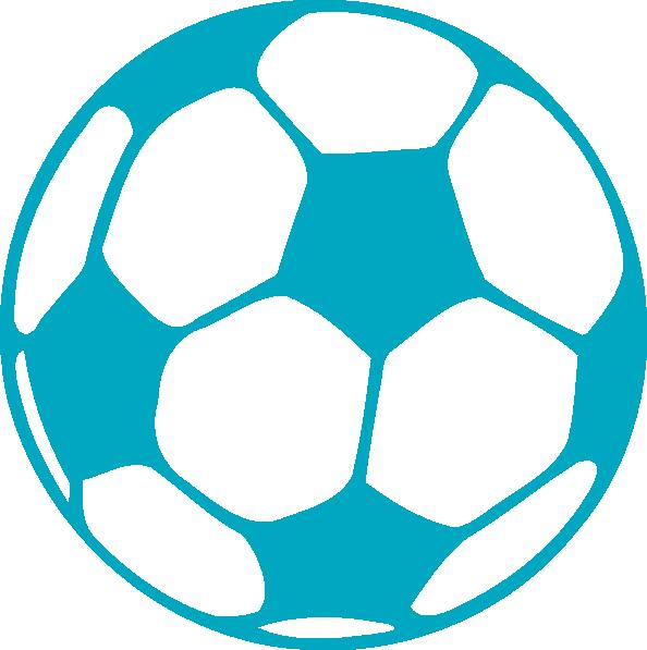 594x597 Aqua Soccer Ball Clip Art