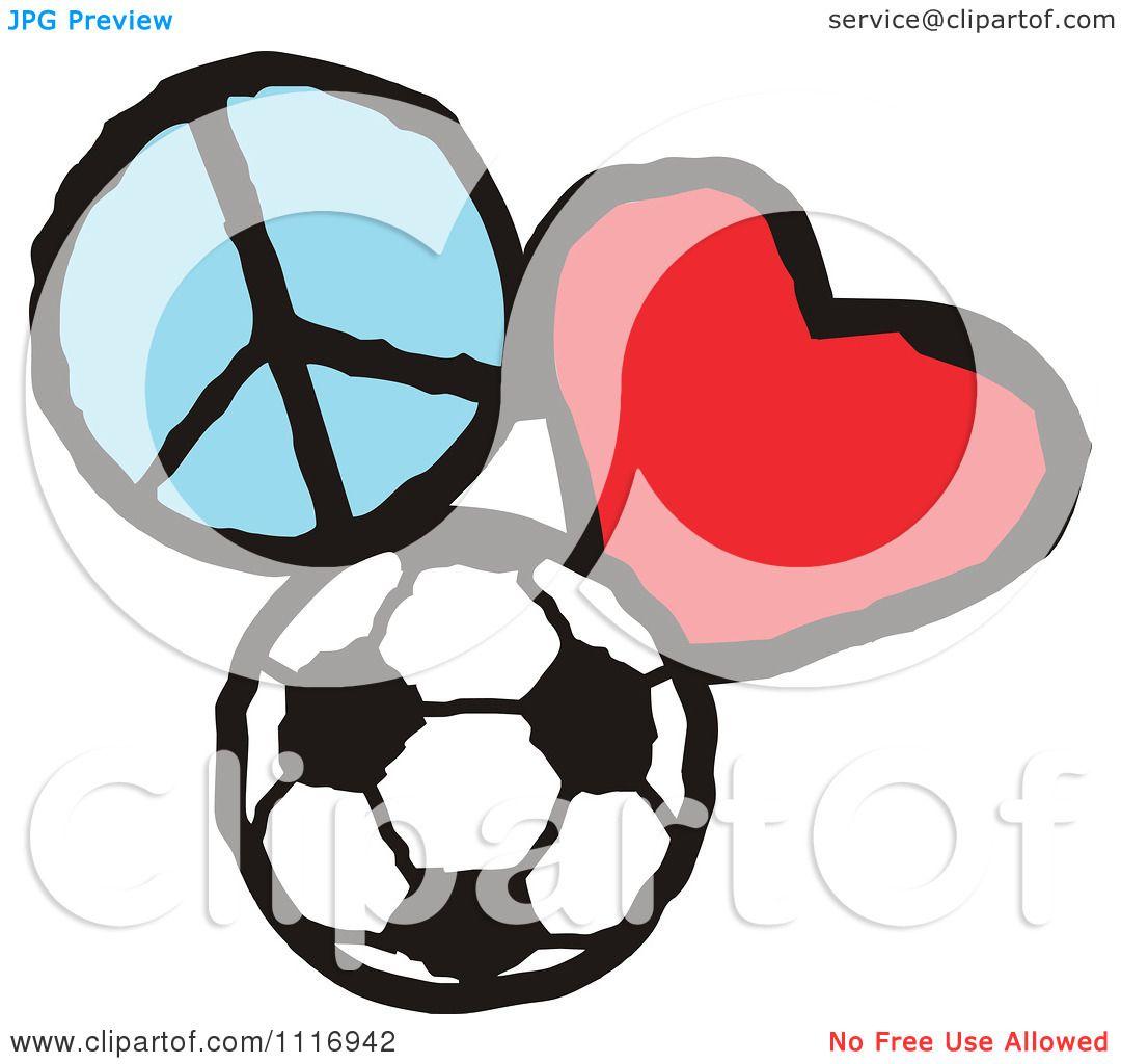 1080x1024 Cartoon Of Peace Love Soccer Graphics
